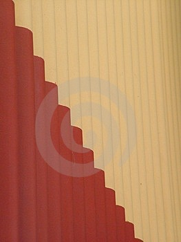 Wavy Wall Stock Image