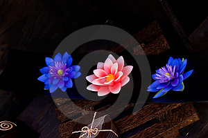 Floral Candle Royalty Free Stock Photography