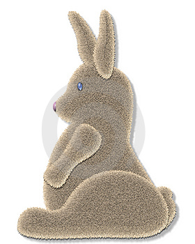 Fuzzy Bunny Stock Photography