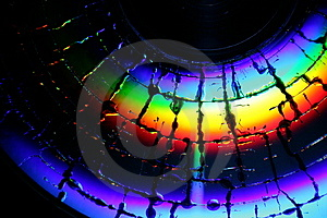 Broken CD Surface Royalty Free Stock Images
