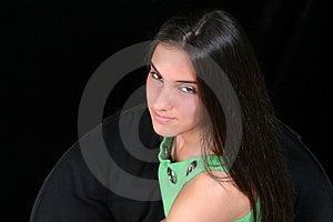 Schönes jugendlich mit Haltung Stockfotografie