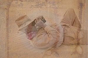 Человек Дисковерера с патиной Стоковая Фотография