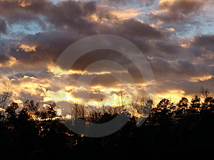 Sky At Sunset Free Stock Image