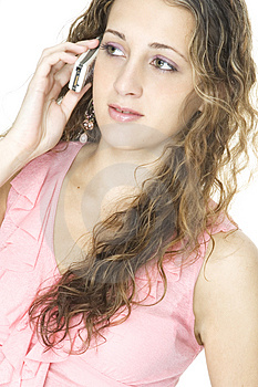 Girl On Cellphone Free Stock Images