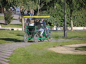 Cart walk Stock Photo