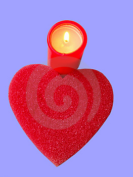Heart And Candle Free Stock Image