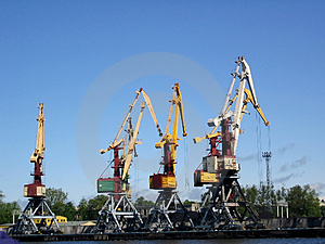 Lifting Cranes. Stock Image - Image: 900021