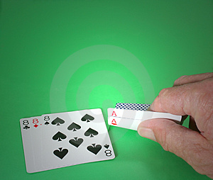 Poker Hand With Aces And Eights Stock Photo - Image: 902760