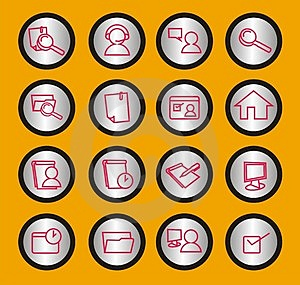 Web Icons Set Royalty Free Stock Image - Image: 902836