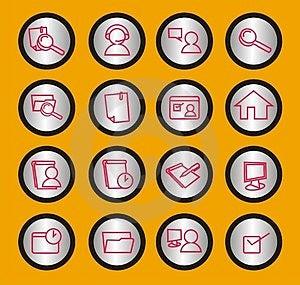 Установленные иконы сети Стоковое Изображение RF - изображение: 902836
