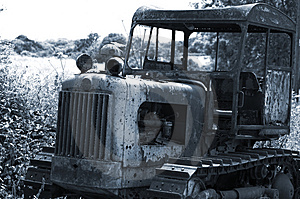 Derelict Farm Vehicle Stock Photography - Image: 902842