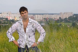 Young Man Outdoor In City Stock Photos - Image: 9002353