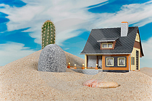 House On Sand. Stock Images - Image: 9003604