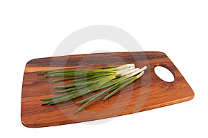Spring Onions On Cutting Board Stock Image - Image: 9005741