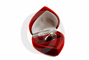 Diamond Ring In Fancy Box Royalty Free Stock Photo - Image: 9005745
