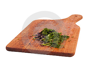 Food Indgredients On Cutting Board Royalty Free Stock Image - Image: 9005826