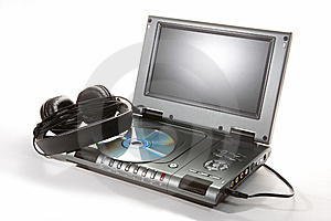DVD Player With Headphones Stock Photography - Image: 9005842