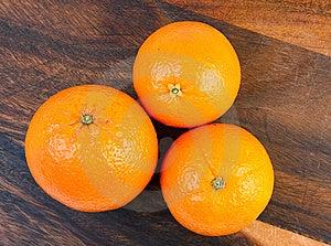 Three Oranges Stock Photo - Image: 9005950