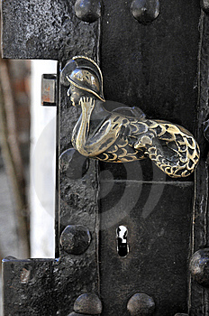 Old Golden Door Handle Royalty Free Stock Images - Image: 9006429