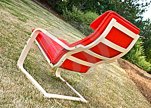 Red Chair Outdoors Stock Images - Image: 9007824