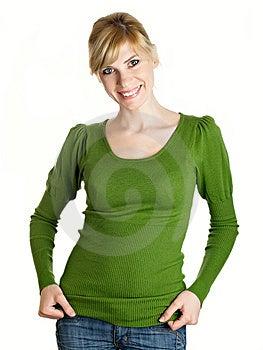 Beautiful Girl In Green Royalty Free Stock Image - Image: 9008246