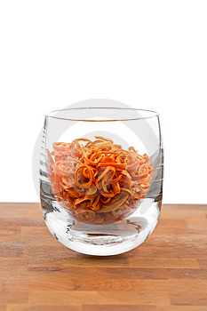 Dried Chopped Red Chilies In Glass Stock Photos - Image: 9009813