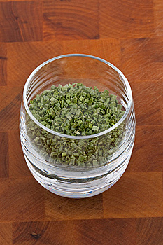 Dried Chive In Glass Royalty Free Stock Photography - Image: 9009857