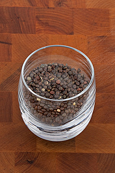 Green Lentils In Glass Stock Photography - Image: 9009912