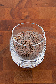 Pardina Lentils In Glass Royalty Free Stock Images - Image: 9009919