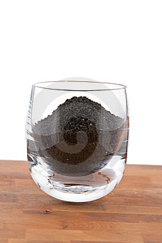 Black Onion Seeds In Glass On Wooden Table Stock Photo - Image: 9009930