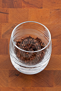 Clove In Glass Stock Photography - Image: 9009942