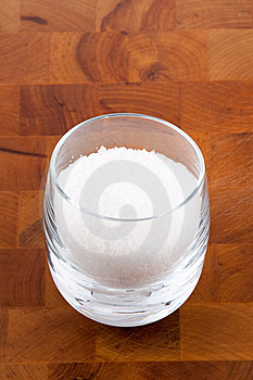 Fleur De Sel, White Sea Salt Crystals In Glass Stock Photography - Image: 9009962