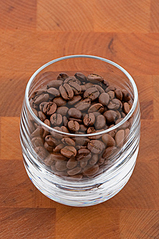 Coffea Beans In Glass Royalty Free Stock Photo - Image: 9009985