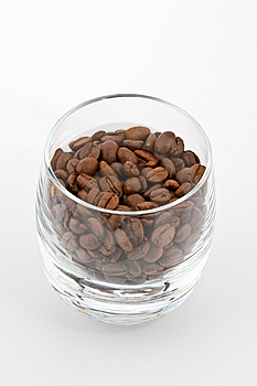 Coffea Beans In Glass Royalty Free Stock Photos - Image: 9009998