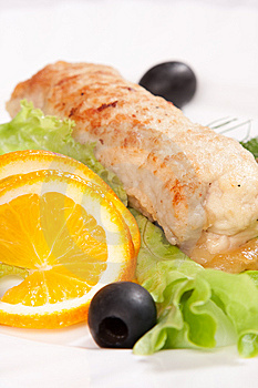 Tasty Chop Served With Salad Stock Images - Image: 9010234