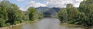 Turin Panorama & Po 1 Royalty Free Stock Photos - Image: 9010978
