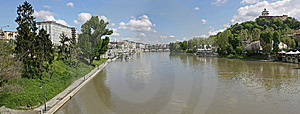 3 Panorama Po Turin Fotografia Royalty Free - Obraz: 9011077
