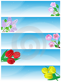 Spring Banners. Stock Photography - Image: 9011232