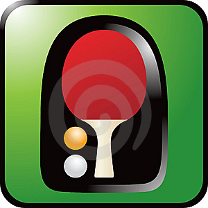 Ping Pong Paddle On Green Background Stock Images - Image: 9014124