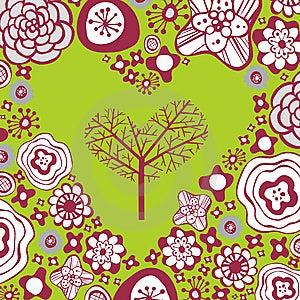 Flora Love Shape Card Royalty Free Stock Photo - Image: 9014245