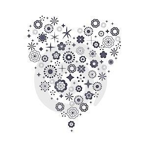 Flora Love Shape Card Royalty Free Stock Photo - Image: 9015275