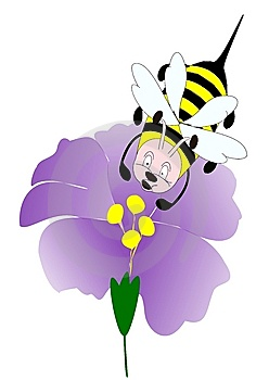 Bee On A Flower Royalty Free Stock Photo - Image: 9015685