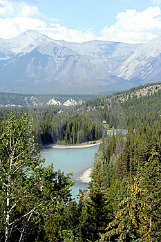 Bow River In Banff National Park, Alberta, Canada Royalty Free Stock Photography - Image: 9015797