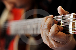 Hand Playing Guitar Stock Photography - Image: 9015842