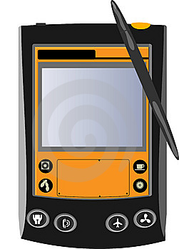 Black And Orange Pocket Computer Stock Image - Image: 9016941