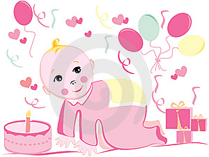 Baby Birthday  Royalty Free Stock Photo - Image: 9019335