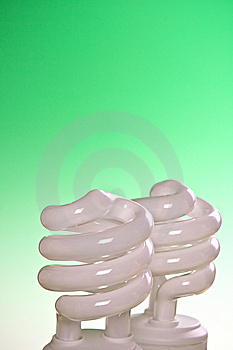 Compact Fluorescent Bulbs Royalty Free Stock Photo - Image: 9019385