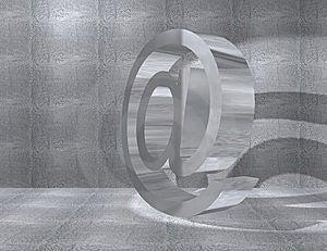Metal At Symbol Royalty Free Stock Photo - Image: 9022195