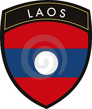 Laos  Flag Royalty Free Stock Photography - Image: 9022447