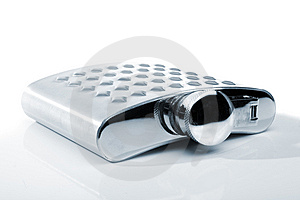 Metal Flask Royalty Free Stock Images - Image: 9023089